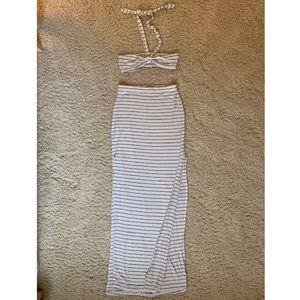 Tobi Maxi Skirt & Bandeau 2-piece